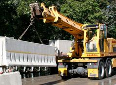 Graddle Lifting Concrete Barrier